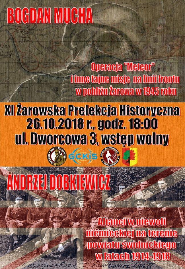 Żarów: Przed nami XI Żarowska Prelekcja Historyczna