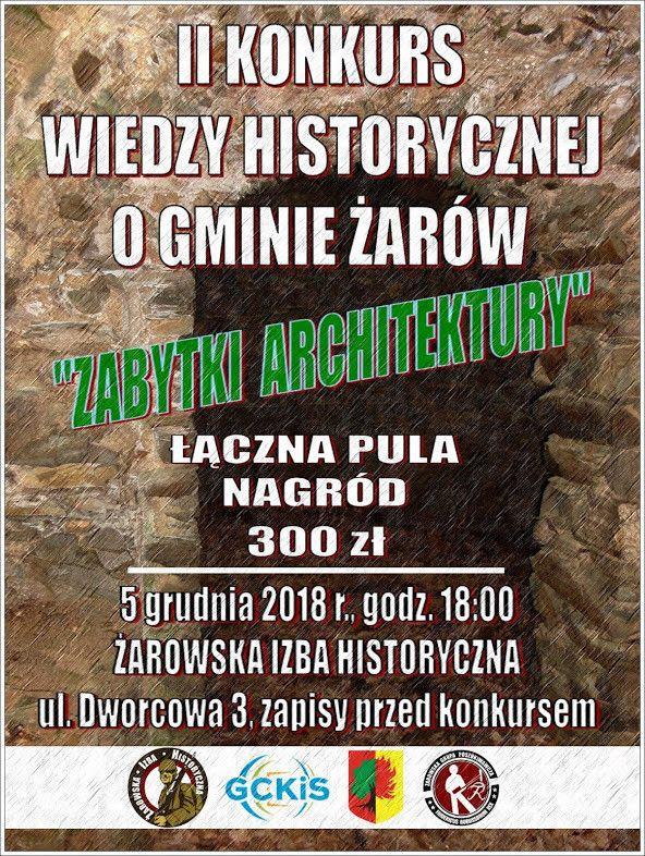 Żarów: II Konkurs Wiedzy Historycznej o Gminie Żarów