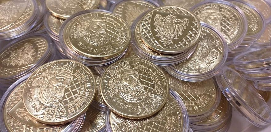 Świdnica: Bolko II Świdnicki na złoconej monecie