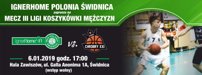 Świdnica: III liga koszykówki mężczyzn: Polonia zagra u siebie