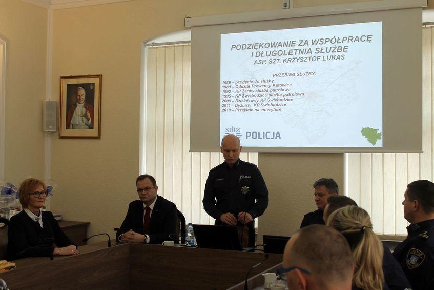 Świebodzice: Odprawa świebodzickiej policji