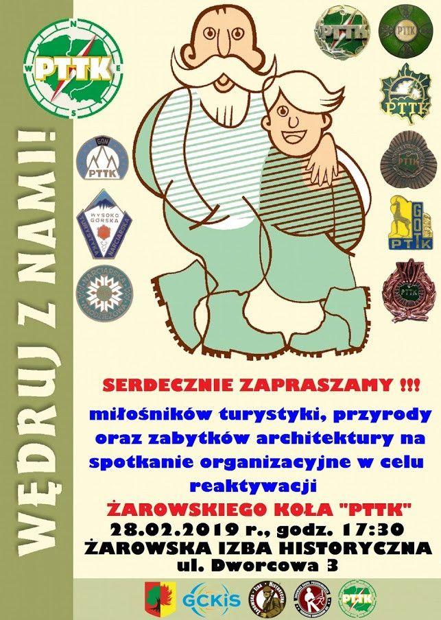 """Żarów: Spotkanie w sprawie reaktywacji Miejskiego Koła """"PTTK"""" Żarów"""
