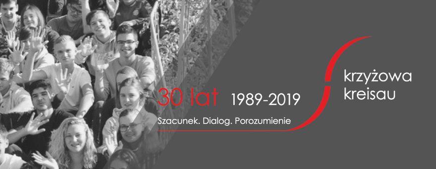 Krzyżowa: 1989–2019. Szacunek. Dialog. Porozumienie. Jubileusz w Krzyżowej