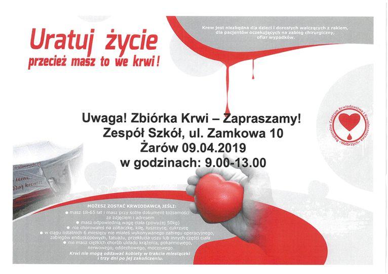 Żarów: Wiosenna zbiórka krwi