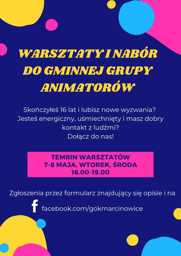 Gmina Marcinowice: Rozpoczął się nabór do Gminnej Grupy Animatorów 2019