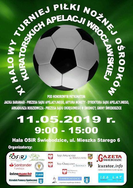 Świebodzice: XI Halowy Turniej Piłki Nożnej Ośrodków Kuratorskich Apelacji Wrocławskiej.