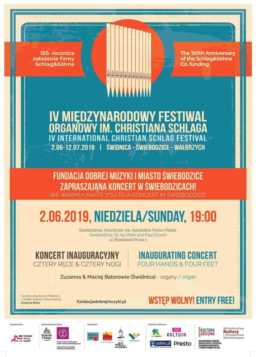 Świebodzice: Koncert organowy w ramach IV Międzynarodowego Festiwalu Organowego IM. Christiana Schlaga