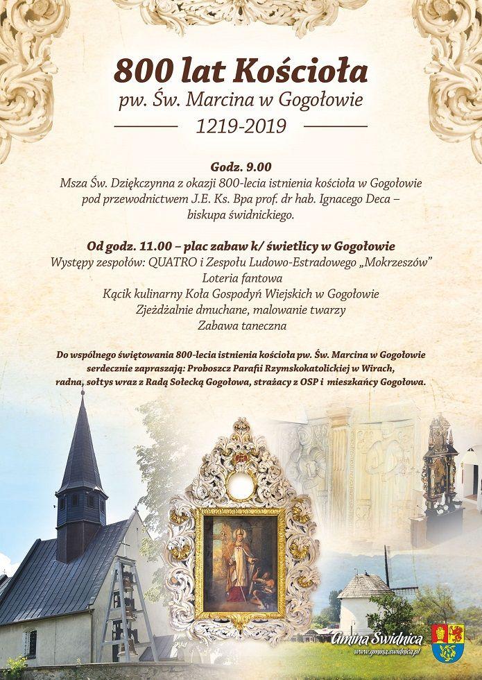 Gogołów: 800 lat kościoła filialnego w Gogołowie