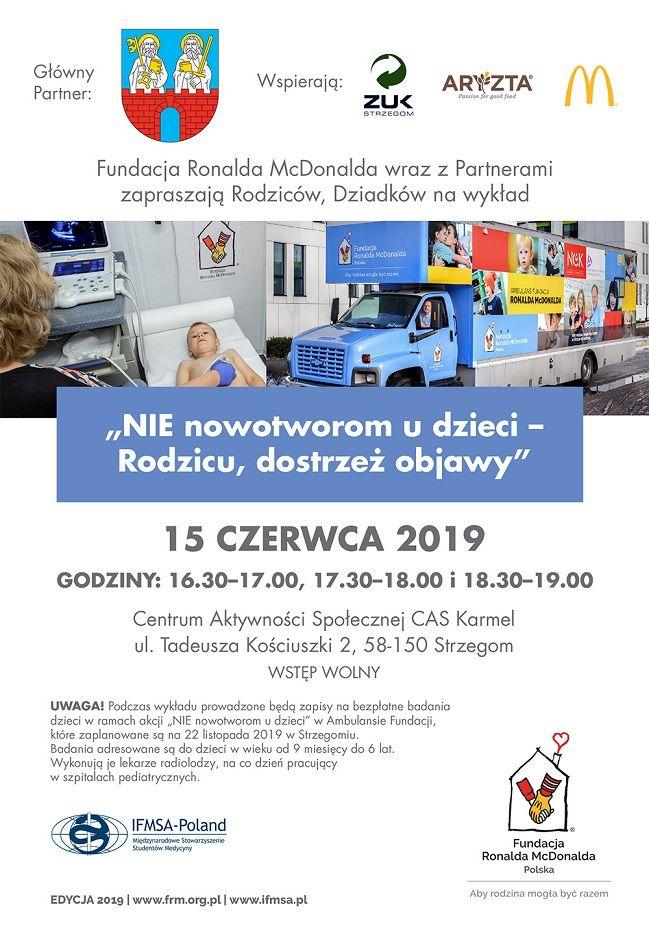 Strzegom: Fundacja Ronalda McDonalda wspiera Strzegom