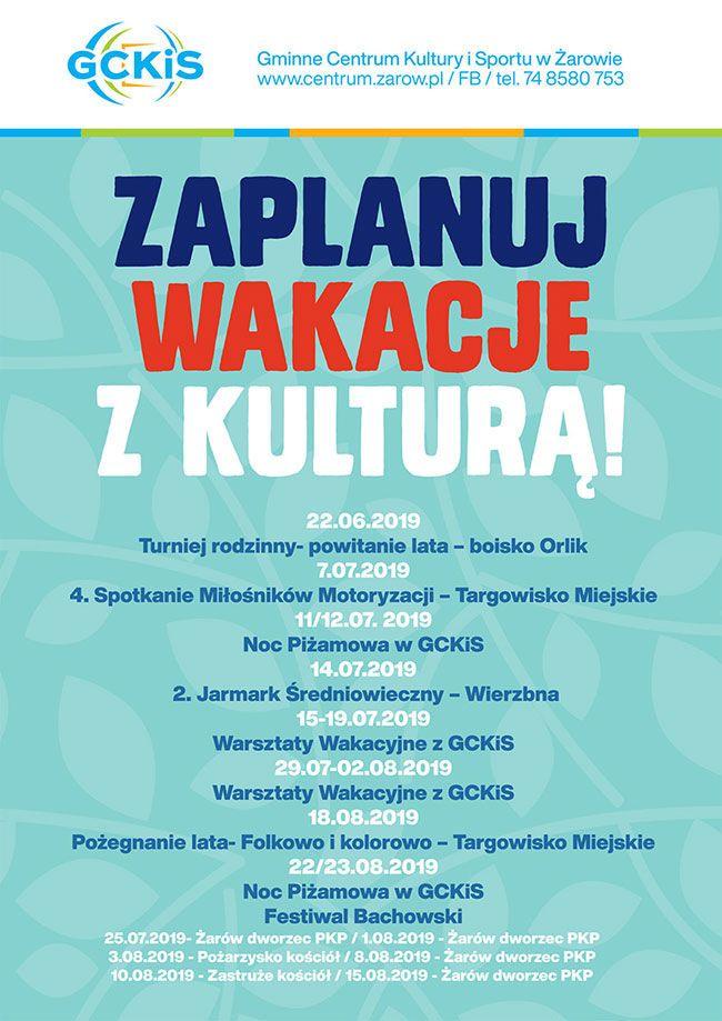 Żarów: Wakacje z Gminnym Centrum Kultury i Sportu w Żarowie