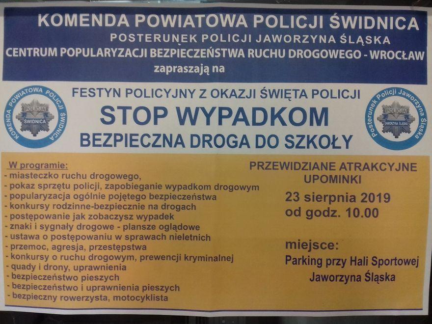 Jaworzyna Śląska: Policyjny festyn