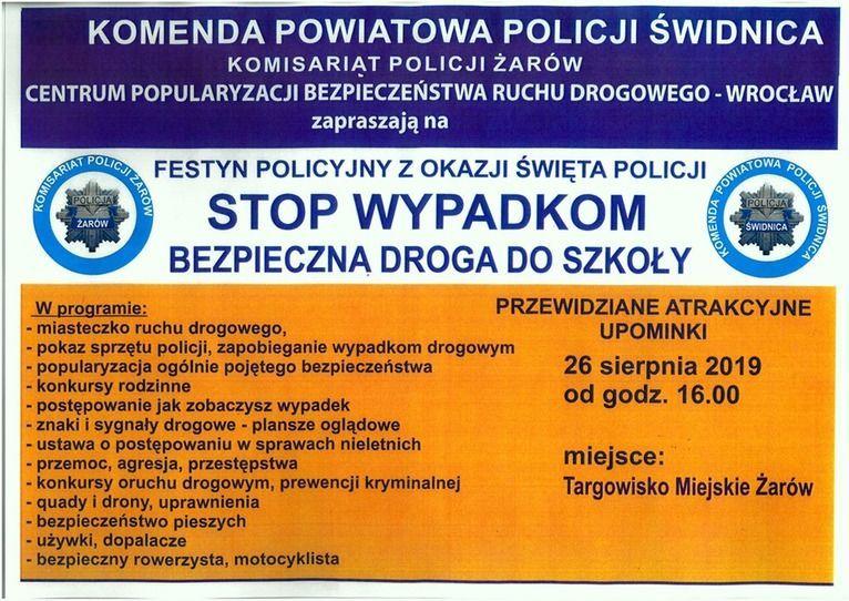 Żarów: Festyn policji