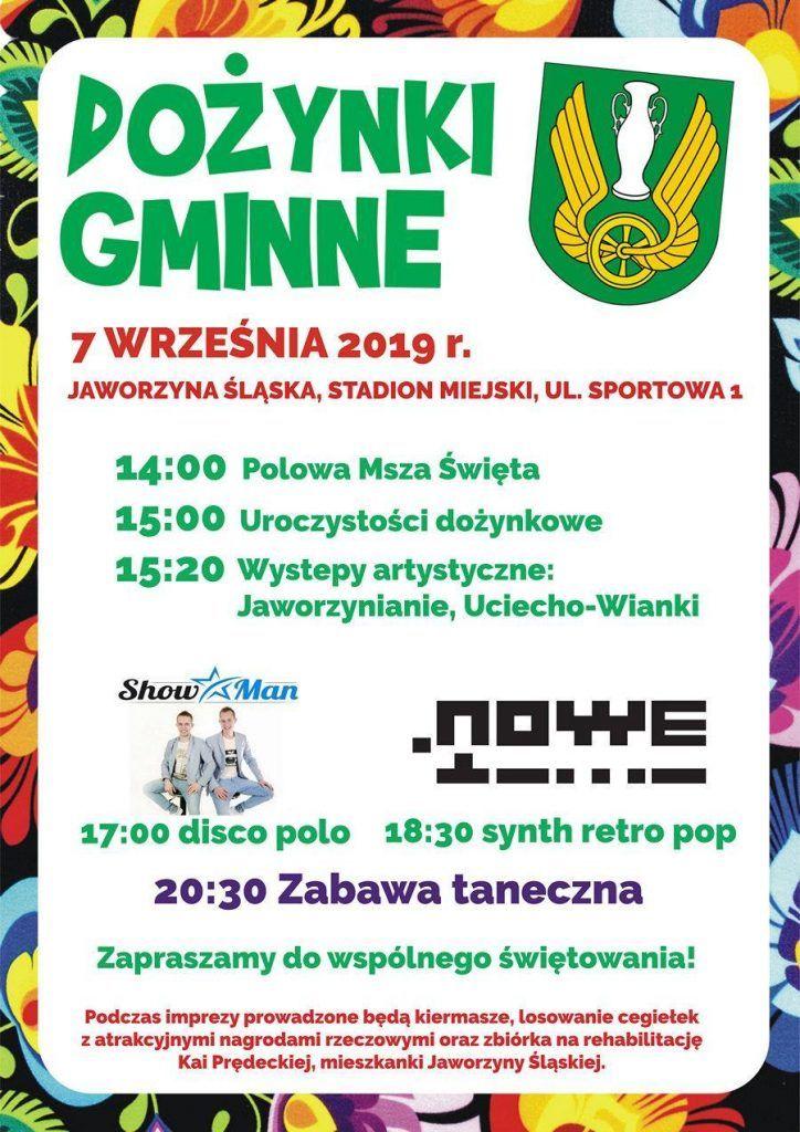 Jaworzyna Śląska: Dożynki już w sobotę
