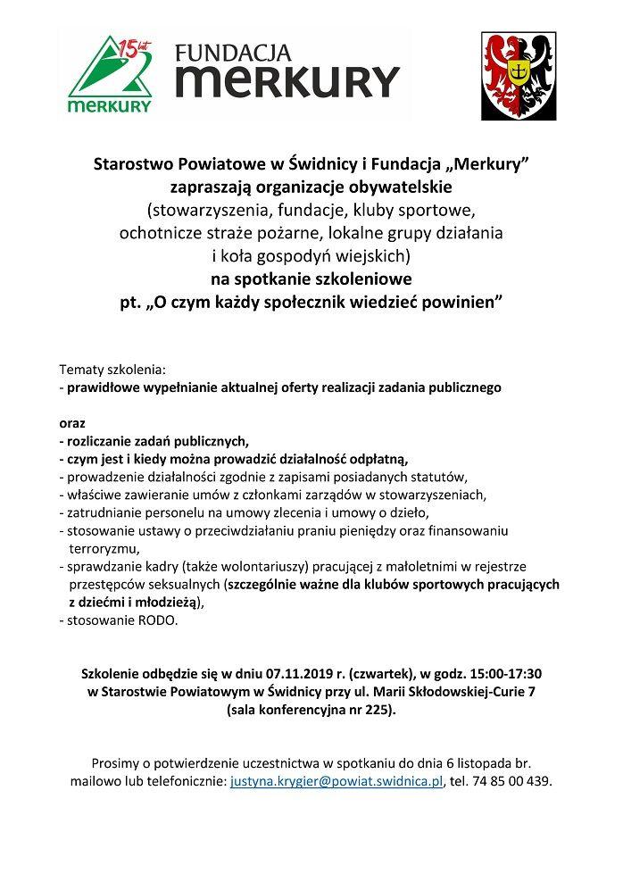 Gmina Świdnica: Szkolenie dla społeczników