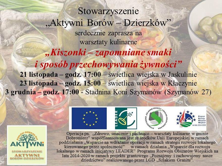 Gmina Dobromierz: Warsztaty kulinarne