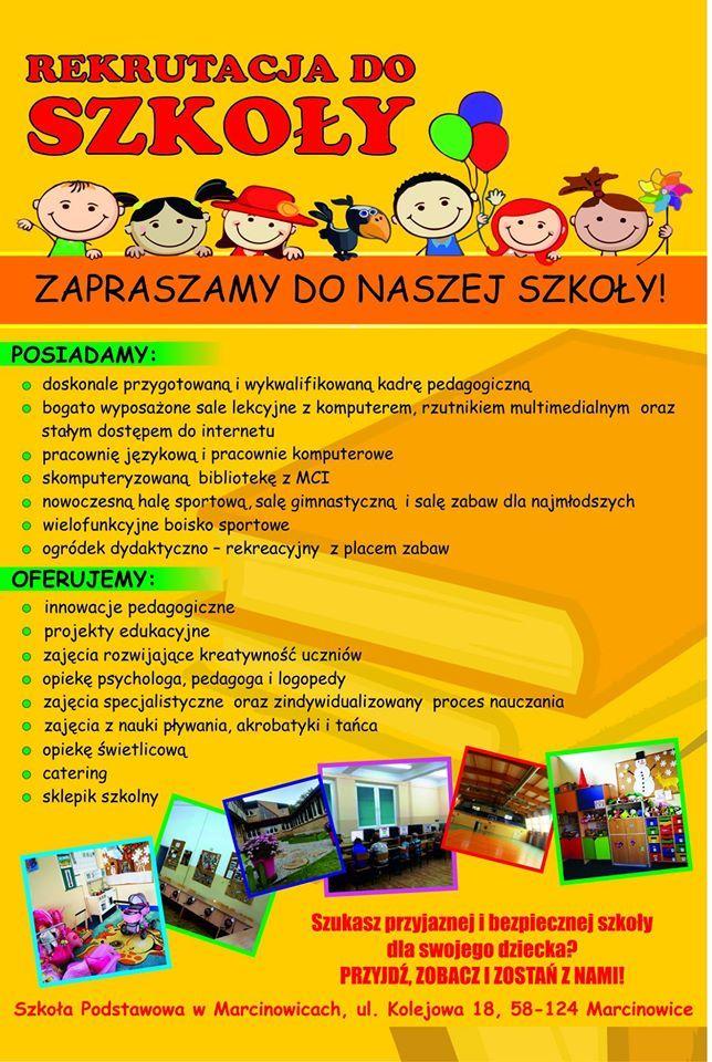 Gmina Marcinowice: Szkoły zapraszają