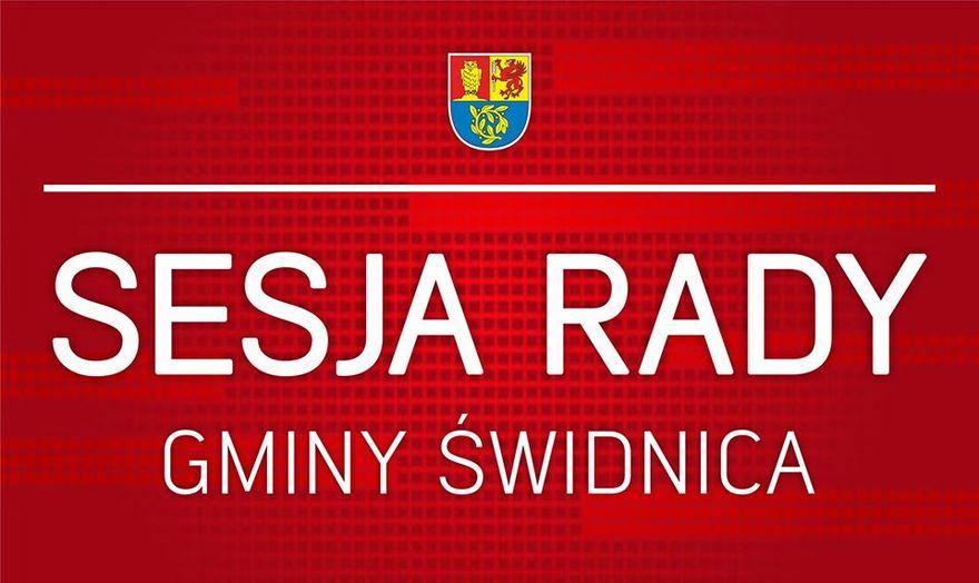 Gmina Świdnica: W gminie też sesja