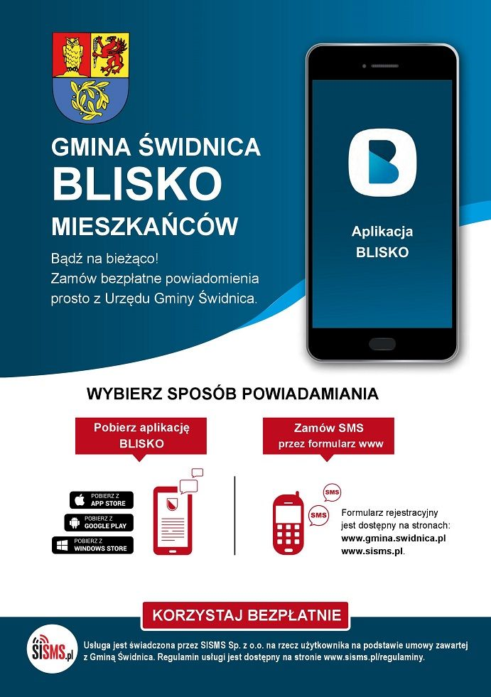 Świdnica/powiat świdnicki: BLISKO mieszkańców