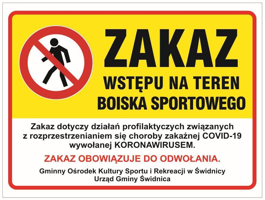 Gmina Świdnica: Obowiązuje zakaz