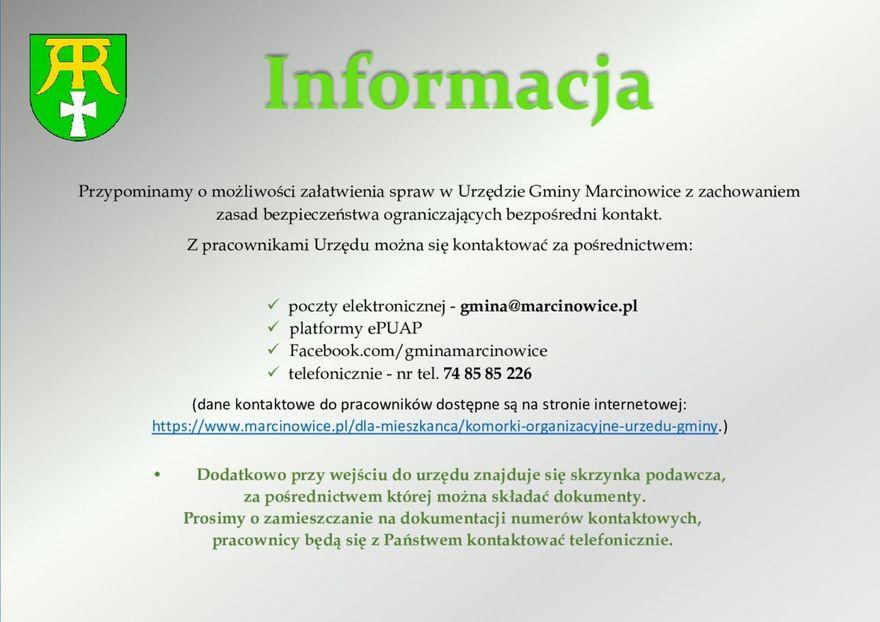 Gmina Marcinowice: Jak działa urząd