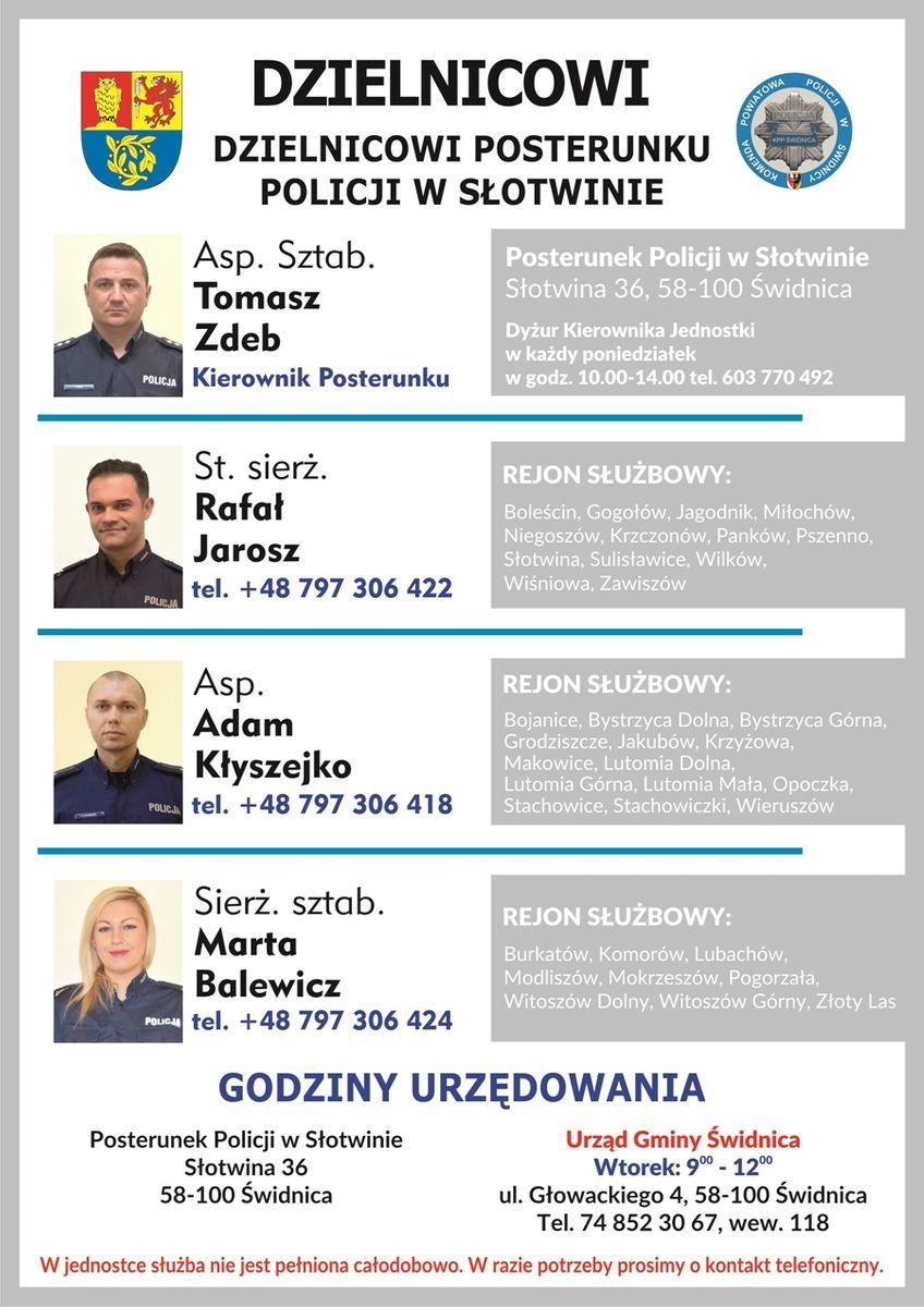 Gmina Świdnica: Dzielnicowi znów dyżurują
