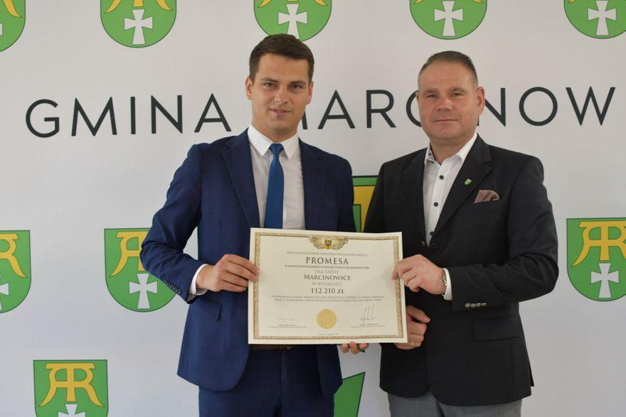Gmina Marcinowice: Promesa przekazana
