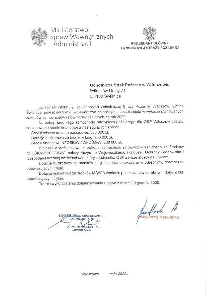 Witoszów Dolny: Pojazd dla Witoszowa