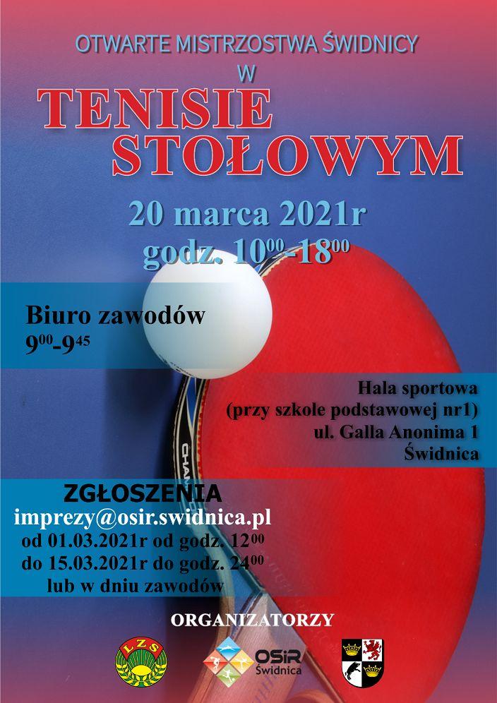 Świdnica/powiat świdnicki: Mistrzostwa w tenisie