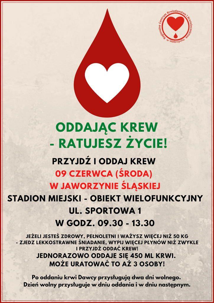 Jaworzyna Śląska: Krew to najcenniejszy dar