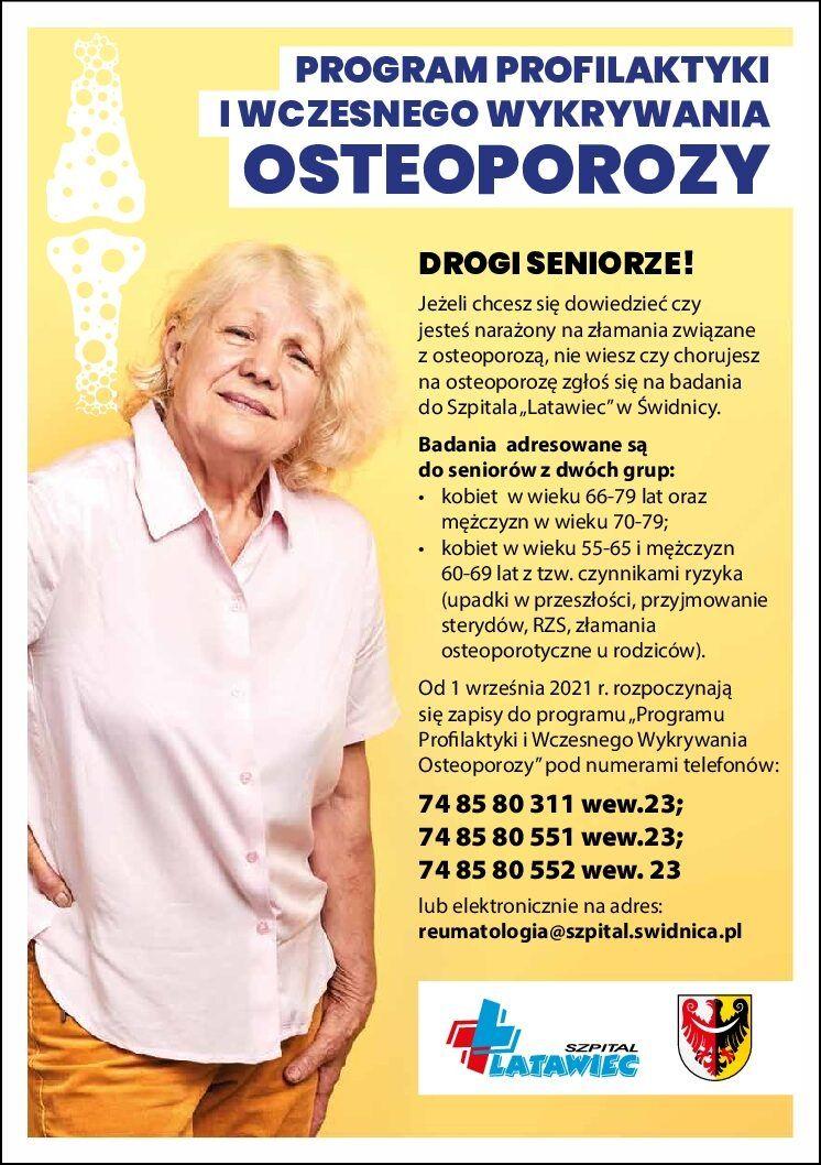 Świdnica/powiat świdnicki: Osteoporozę można leczyć