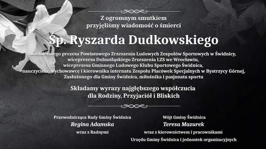 Gmina Świdnica: Zmarł pasjonat sportu